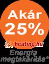 Akár 25 % energia megtakarítás.