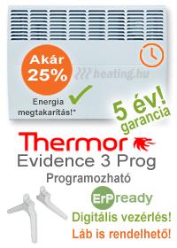 EpR ready elektromos fűtőpanel heti időzítéssel, jelenlét érzékelővel és kettős hatással.