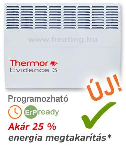 A Thermor Evidence 3 elektromos radiátor takarékosabb, és a hét napjaira előre programozható.