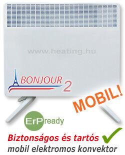 Bonjour 2 mobil elektromos konvektor tartozék lábkészlettel.