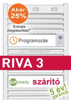 Riva 3 programozható elektromos törölközőszárító radiátor
