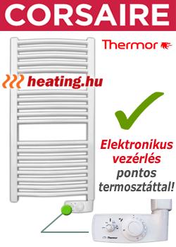 A Corsair törölközőszárító radiátor megfelelő fürdőszobai elektromos fűtés is egyben.