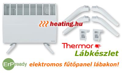 Mobil elektromos fűtés korszerű fűtőkészülékkel: a Thermor fűtőpanelekhez praktikus lábkészlet is rendelhető.